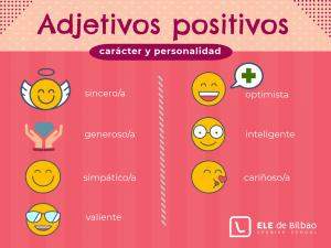 inforgrafía con vocabulario e imágenes para describir carácter y personalidad en español