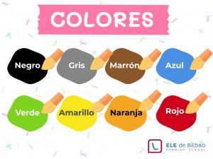 inforgrafia con los colores en español