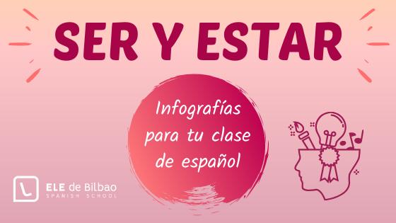 infografias para ser y estar en clase de español lengua extranjera